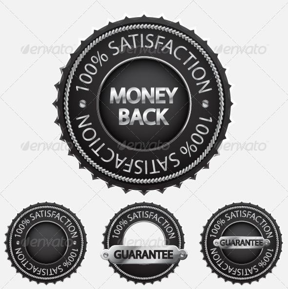 Graphic River Satisfaction Guaranteed Badge Set Vectors -  Conceptual  Commercial / Shopping  Services 818988