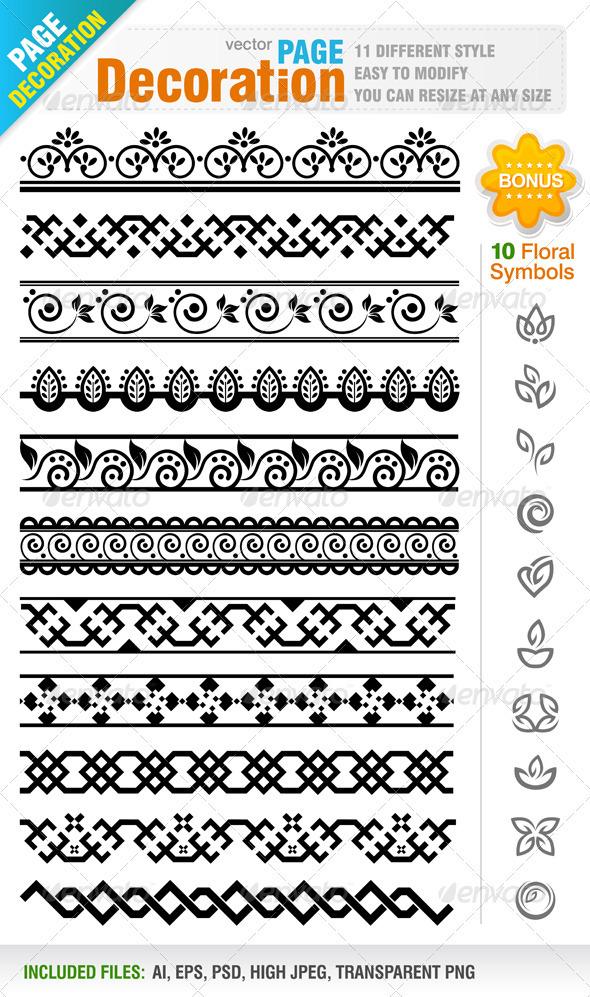 Graphic River Page Decoration Vectors -  Decorative 819804