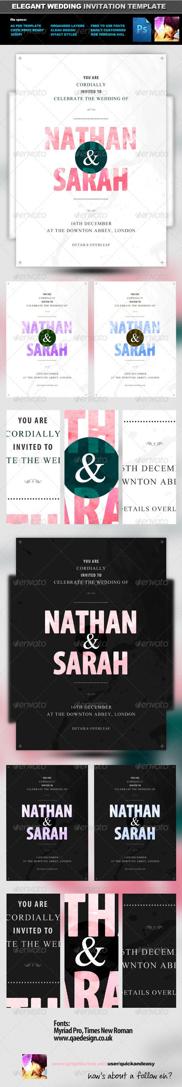 GraphicRiver Elegant Wedding Invite Template 820285