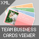 XML Team Business Cards viewer - ActiveDen Item for Sale