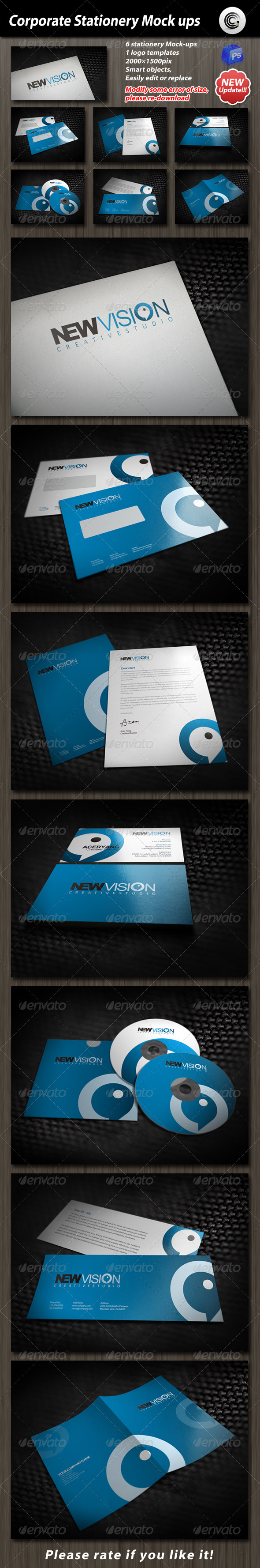 GraphicRiver Corporate Stationery Mock-up 610785
