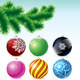 Pine Branch with Baubles - GraphicRiver Item for Sale