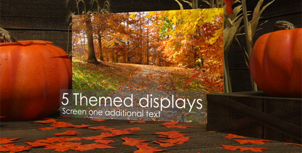 After Effects Project - VideoHive Autumn Themed Video Displays 830947
