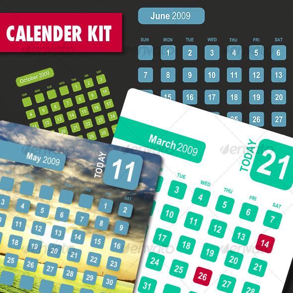 GraphicRiver Calendar Kit 33512