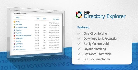 CodeCanyon PHP Directory Explorer 441782