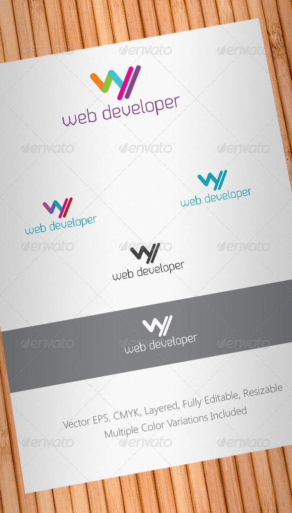 Graphic River Web Developer Logo Template Logo Templates -  Letters 839101