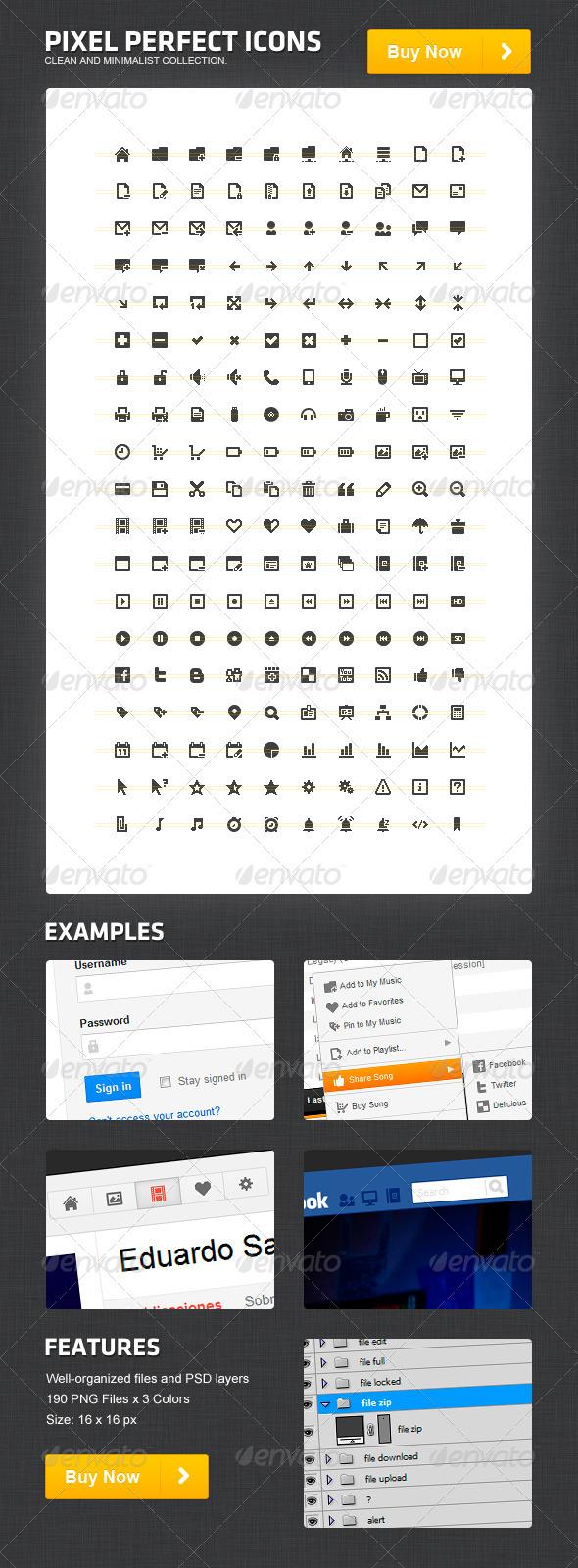 GraphicRiver Pixel Perfect Icons 820936
