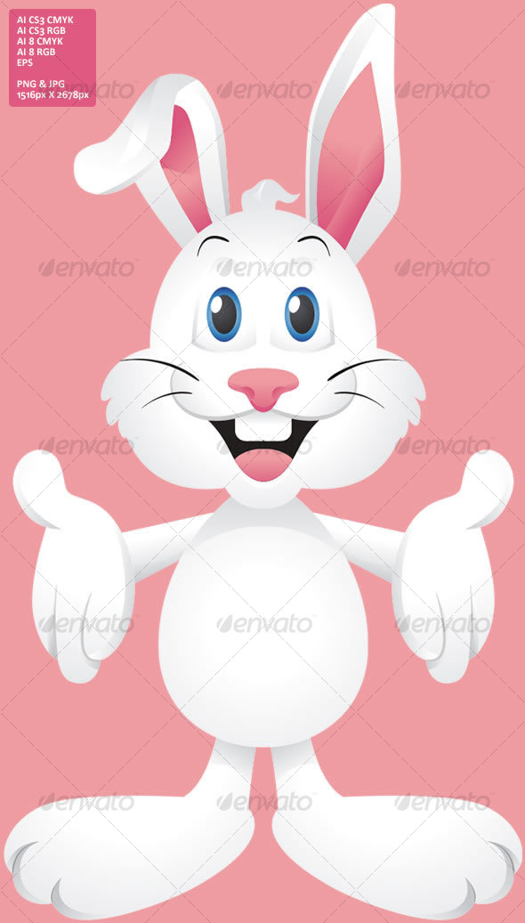 Graphic River Easter Bunny Rabbit Vectors -  Characters  Animals 35006