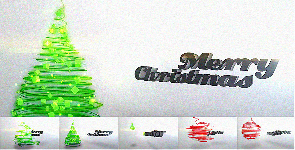 After Effects Project - VideoHive Particles Christmas Tree Video Greeting C ...