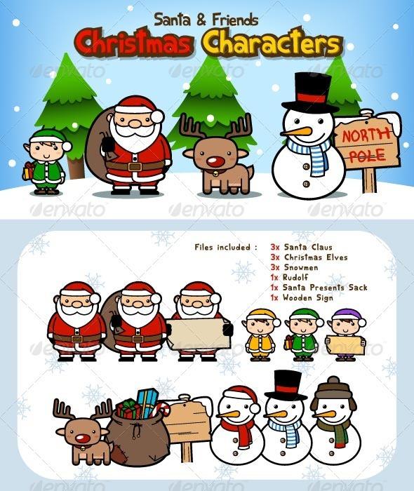 Graphic River Santa Claus Christmas Characters Vectors -  Conceptual  Seasons/Holidays  Christmas 842103