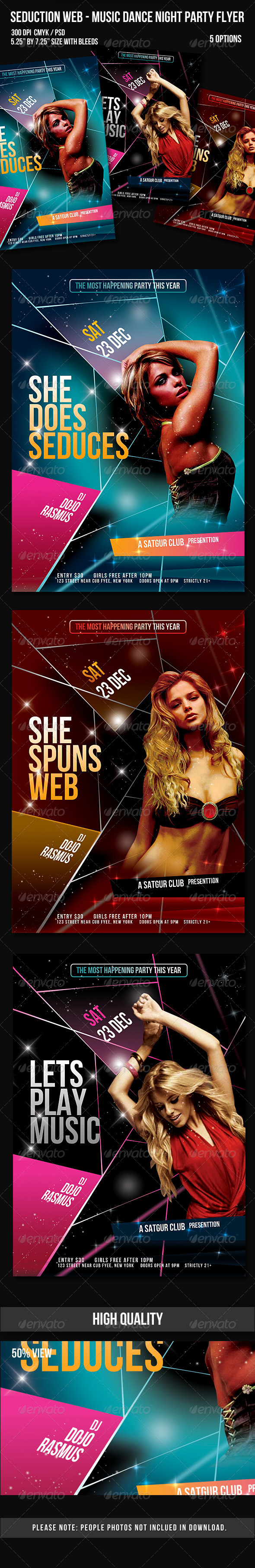 Graphic River Seduction Web Music Dance Night Party Flyer Print Templates -  Flyers  Events  Clubs & Parties 842335