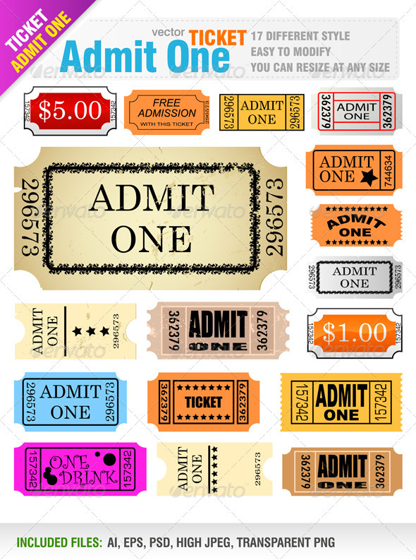 GraphicRiver Tickets 842748