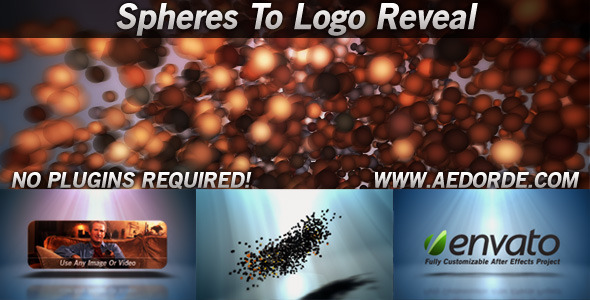 After Effects Project - VideoHive Spheres To Logo Reveal 842862
