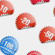 Glossy Shopping Sticker Icons - GraphicRiver Item for Sale