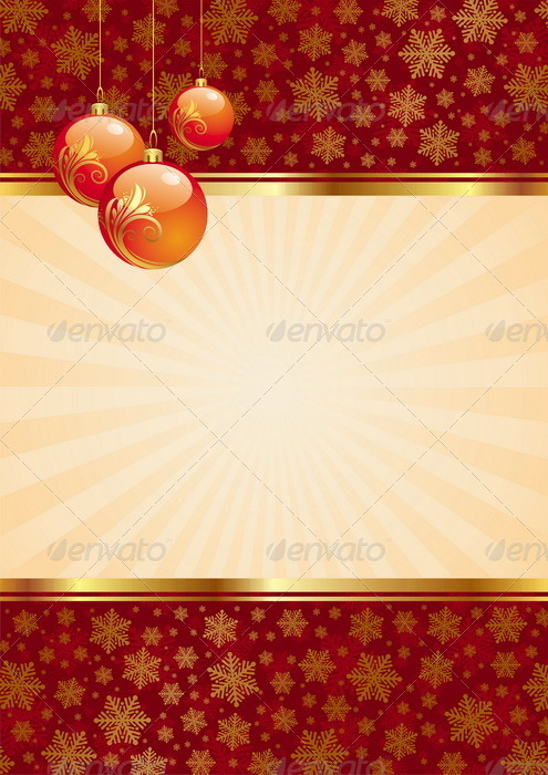 Graphic River Vector Background With Christmas Baubles Vectors -  Conceptual  Seasons/Holidays  Christmas 847835