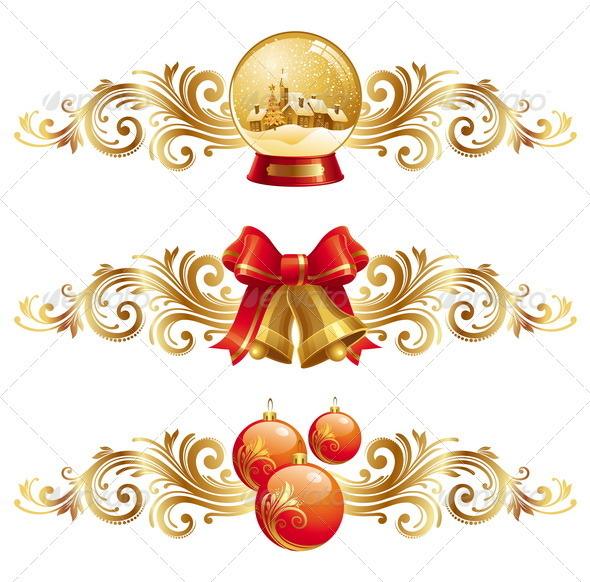 Graphic River Christmas Symbols With Ornamental Decor Vectors -  Conceptual  Seasons/Holidays  Christmas 849113