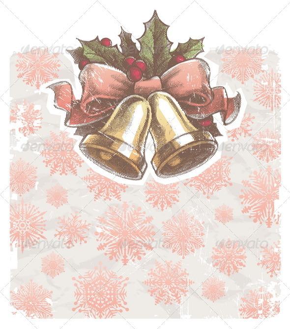 Graphic River Christmas Holidays Illustration With Hand Bells Vectors -  Conceptual  Seasons/Holidays  Christmas 849366