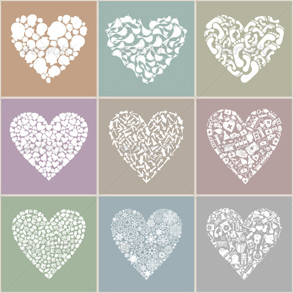 Graphic River Collection heart Vectors -  Conceptual  Seasons/Holidays  Valentines 849941
