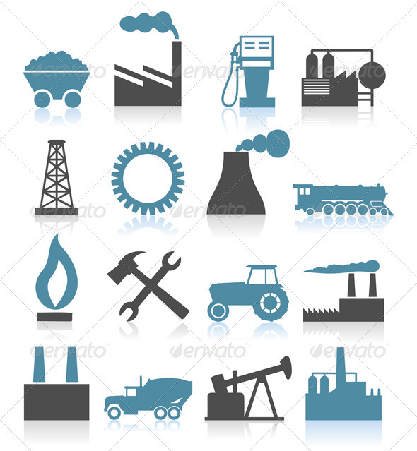 Graphic River Industrial icons5 Vectors -  Miscellaneous 850658