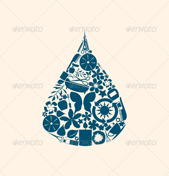 Graphic River Spa a Drop Vectors -  Miscellaneous 851028