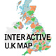 Interactive U.K Map - with Zoom & Placemarks - ActiveDen Item for Sale