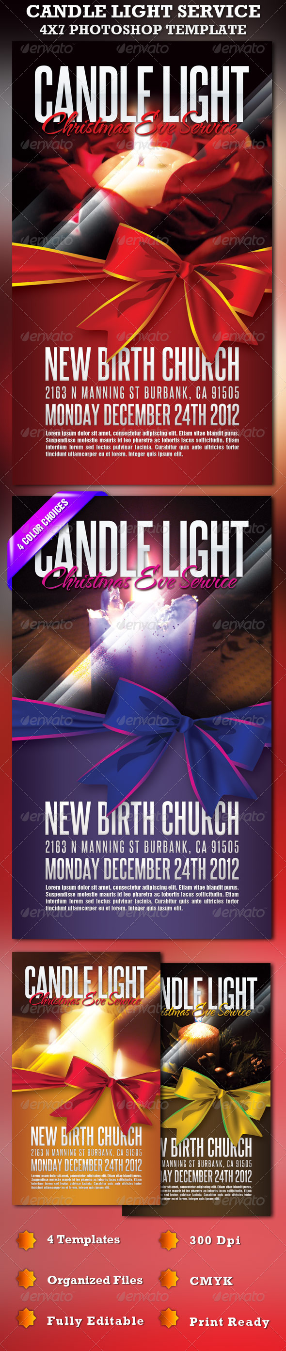 GraphicRiver Candle Light Service 4X7 Photoshop Template 854072