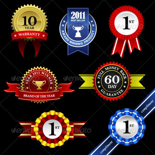 GraphicRiver Seal Rosette Award Badge Tag 854073