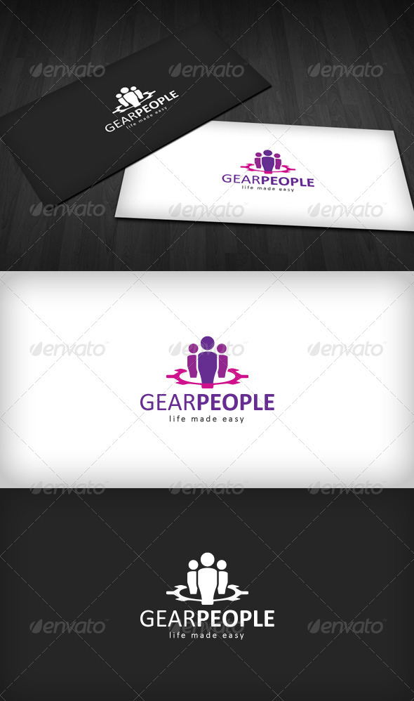 Graphic River Gear People Logo Logo Templates -  Abstract  Vector 854374