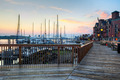 Harbor Walk, Boston, at sunrise - PhotoDune Item for Sale