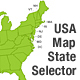US XML Map State Selector - Simple & Customizable - ActiveDen Item for Sale