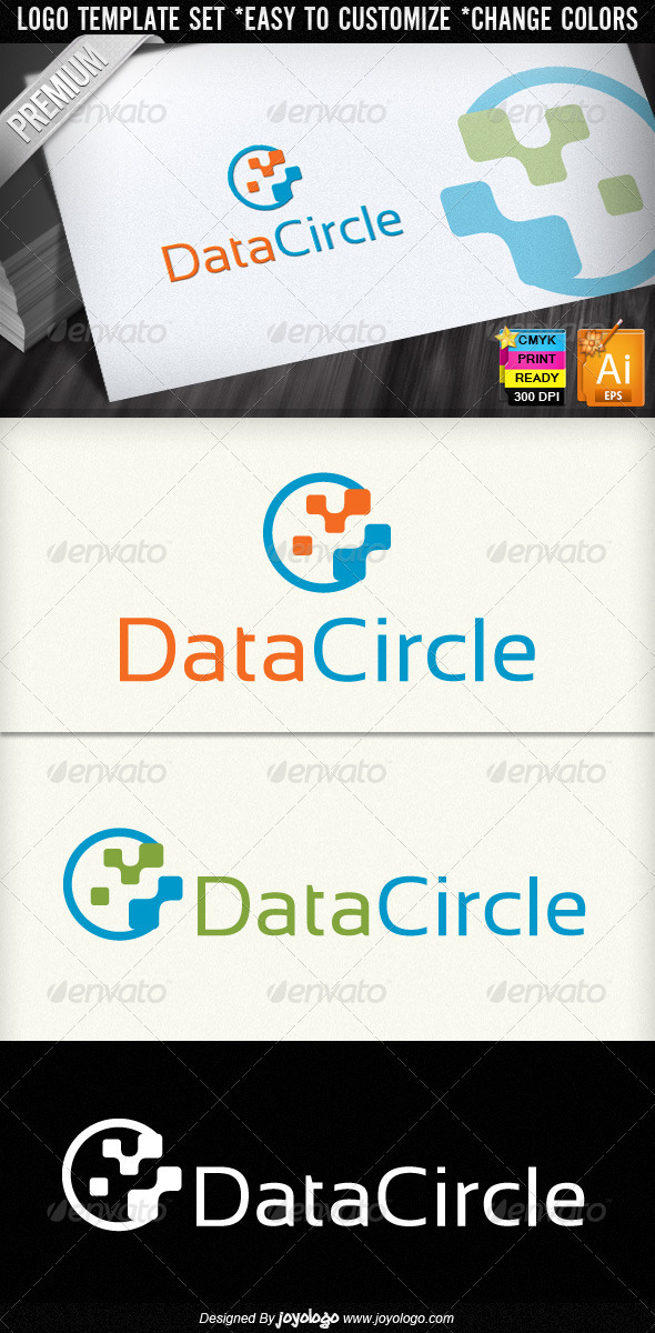 Graphic River Data Circle Abstract Digital Technology Logo Logo Templates -  Objects 859813