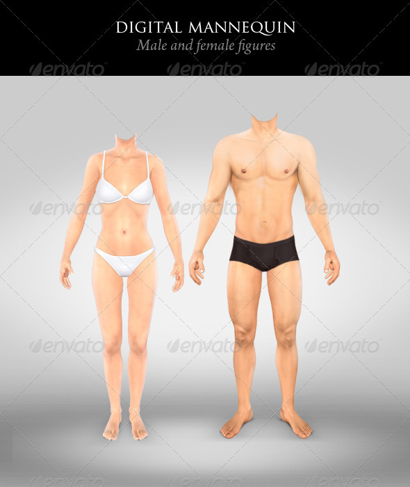 Graphic River Digital Mannequin Graphics -  Illustrations 859859